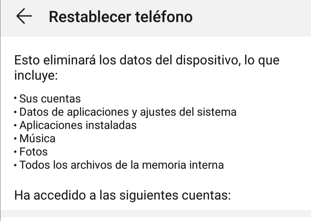 Restablecer dispositivo